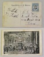 Cartolina Illustrata La Trasmissione Del Potere Nell'Aula Consigliare - Saint-Marin
