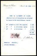 Numismatique - Autographe D'Ernest Pierre DELOCHE (1861-1950) - Graveur De 3 Billets - ALGERIE - SYRIE - SYRIE - Banconote