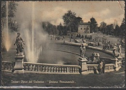 # Cartolina - Torino - Parco Del Valentino - Fontana Monumentale - Viaggiata 1954 - Parcs & Jardins