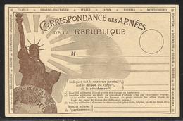 14/18 : Carte De Franchise Militaire Statue De La Liberté Avec Mention Russie Neuve - Marcophilie (Lettres)