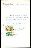 Numismatique - Autographe D'Ernest Pierre DELOCHE (1861-1950) - Graveur D'un Billet BDF (Banque De France) - Banconote