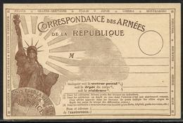"""14/18 : Carte De Franchise Militaire Statue De La Liberté Sans Mention Russie Neuve (""""Costa-Rica"""" Remplace """"Russie"""") - Marcophilie (Lettres)"""