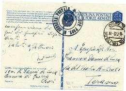 1942 POSTA MILITARE 3450 + TESTO INTERESSANTE - 1900-44 Vittorio Emanuele III