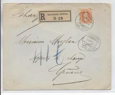 1905 - SUISSE -  ZUMSTEIN 86 SEUL Sur ENVELOPPE RECOMMANDEE De LAUSANNE => GENEVE - Briefe U. Dokumente
