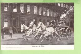 Métier : POMPIERS En Amérique - Going To The Fire - Eteindre Le Feu Véhicule à Chevaux - Illustrateur - TBE - 2 Scans - Sapeurs-Pompiers