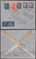 Belgique - Lettre COB 430+431 En Paire+434+435 Par Avion D'Antwerpen 21/08/1937 Vers Buenos Aires (RD108)DC5611 - Belgium