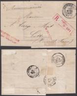 Belgique - Lettre COB 35 En Recom. De Verviers 17/11/1884 Vers Cette France - Ambulant (RD110)DC5613 - 1884-1891 Leopold II