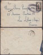 Cameroun - Lettre Maritime Yv 55 Postée Du Paquebot Asie Vers Les Lilas France (RD117) DC5620 - Cameroun (1915-1959)