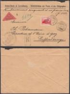 Luxembourg - Prifix 141 Sur Lettre En Recom. Contre Remb. De Luxembourg-Ville 22/01/1923 Vers Differlange (RD122) DC5625 - Luxemburg