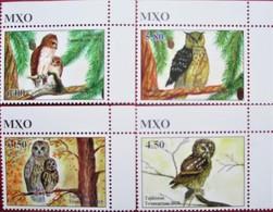 Tajikistan  2019  Owls  Eulen  4 V   Perfor.   MNH - Eulenvögel