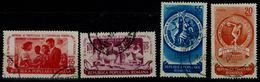 ROMANIA 1953 WORLD FESTIVAL OF YOUTH AND STUDENTS, BUCHAREST  USED MI No 1435-8 VF!! - 1948-.... Repúblicas