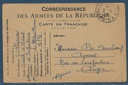14/18 : Carte De Franchise Militaire Sans Drapeaux Tàd Trésor Et Poste 515 Le 2.6.1917 - Expéditeur Au 40e D'infanterie - Marcophilie (Lettres)