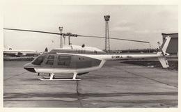 Photo Format CP Helicoptère Agusta Bell 206-A Jet Ranger - Aviación