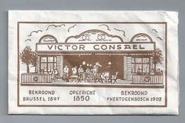 Suikerzakje.- VICTOR CONSAEL. BEKROOND BRUSSEL 1897. 's-HERTOGENBOSCH 1902. Suiker Sucre Zucchero Zucker Sugar - Suiker