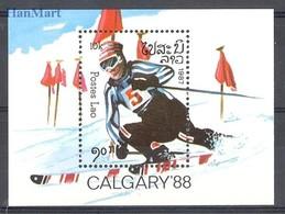 Laos 1986 Mi Bl 114 MNH ( ZS8 LAObl114 ) - Winter 1988: Calgary