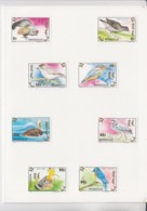 MONGOLIA -  1992 -  BIRDS SET OF 8 MINT IMPERFORATE IN SPECIAL  FOLDER  ,SELDOM SEEN - Mongolia
