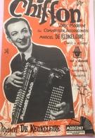 (40) Partituur - Partition - Chiffon - Valse Moderne - Marcel De Keukeleire - Partitions Musicales Anciennes