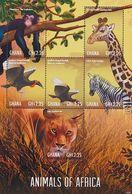 MDA-BK20-181 MDB MINT ¤ GHANA 2013 5w In Serie ¤ WILD ANIMALS GIRAF BIRDS OISEAUX BIRDS PAJAROS VOGELS - Gibier