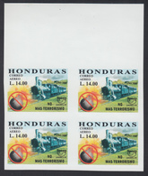 Upaep 1999 Honduras 1031 Variedad Variety Sin Dentar Imperforated Tren Train Bl4 - Sellos