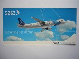 Avion / Airplane / SATA / Airbus A320-200 / Airline Issue / Size : 10,5X21cm - 1946-....: Modern Era