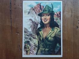 Bella Alpina - Cartolina Fine Anni '40 - Disegnatore Moltrasio - Non Scritta + Spese Postali - Uniformi