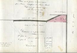 Plan De La Portion De Terrain Acquise Par Monsieur Daufresne De Monsieur Hauvel - Lisieux - 1842 - Architecture