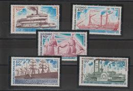 Congo 1976 Bateaux PA 217-22 5 Val ** MNH - Nuevas/fijasellos