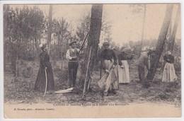 40 LANDES Dernière Récolte De La Résine Le Barrascot ,ouvriers Au Travail - France