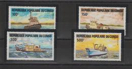 Congo 1984 Bateaux 730-33 4 Val ** MNH - Nuovi