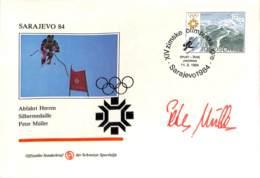 [902907]TB//-Yougoslavie 1984 - SARAJEVO, Abfahrt Herren, Peter Muller, Sports, Ski, Jeux Olympiques - Other