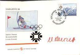 [902910]TB//-Yougoslavie 1984 - SARAJEVO, Ursula Konzett, Sports, Ski, Jeux Olympiques - Other
