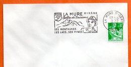 LA MURE D'ISERE   SES MINES 1961 Lettre Entière N° NO 58 - Mechanical Postmarks (Advertisement)
