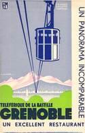 """CPA / CARTE DE VISITE FRANCE 38 """"Grenoble, Téléférique"""" - Grenoble"""
