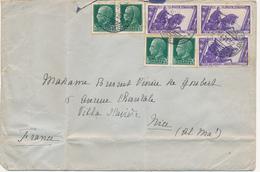 1932 LETTERA X ESTERO 2 PORTI DA NAVE LLOYD TRIESTINO CONTE ROSSO - Correo Militar (PM)