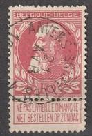 COB N° 74 - Oblitération Ambulant Anvers-Bruxelles 1 - 1905 Grove Baard