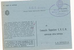 1942 REGIA NAVE LITTORIO - Military Mail (PM)