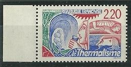 Variété Signée Calves - Le Thermalisme - Y&T N° 2556a - 2 F. 20 Rouge - Neuf ** - Variedades Y Curiosidades