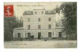 Tournus - La Gare Extérieure (animation, Voiture Hippomobile) Circulé 1909 - France