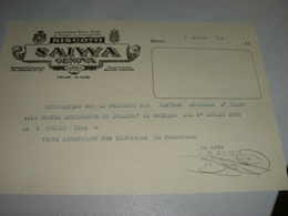 DOCUMENTO 1933 DITTA SAIWA - Italië