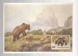 Bulgaria 1958 Maximum Card Animals - Bulgaria