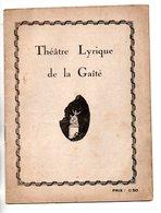 """PROGRAMME. THÉÂTRE LYRIQUE DE LA GAÎTÉ . """" LES BRIGANDS """" . J. PÉRIER, VILBERT, R. VÉCART . J. OFFENBACH - Réf. N° 72P - - Programma's"""