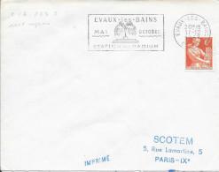 CREUSE (23) EVAUX LES BAINS FLAMME N° EVA 123 S - EVAUX LES BAINS / MAI OCTOBRE / STATION DU RADIUM - Marcophilie (Lettres)