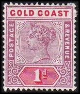 1898-1902. GOLD COAST. Victoria. 1 D.  (MICHEL 23) - JF319199 - Costa D'Oro (...-1957)