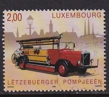Luxembourg 2009, Fire Truck Minr 1820 Vfu. Cv 4 Euro - Gebraucht