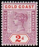 1898-1902. GOLD COAST. Victoria. 2 D.  (MICHEL 24) - JF319200 - Costa D'Oro (...-1957)