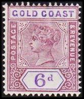 1898-1902. GOLD COAST. Victoria. 6 D.  (MICHEL 26) - JF319202 - Costa D'Oro (...-1957)
