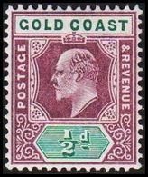 1902. GOLD COAST. Edward VII. ½ D.  (MICHEL 34) - JF319205 - Costa D'Oro (...-1957)