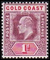1902. GOLD COAST. Edward VII. 1 D.  (MICHEL 35) - JF319206 - Costa D'Oro (...-1957)