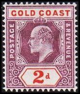 1902. GOLD COAST. Edward VII. 2 D.  (MICHEL 36) - JF319207 - Costa D'Oro (...-1957)