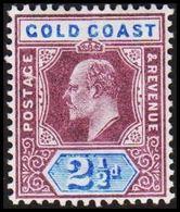 1902. GOLD COAST. Edward VII. 2½ D.  (MICHEL 37) - JF319208 - Costa D'Oro (...-1957)